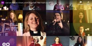 'O kom, o kom, Immanuël' door 100 zangers van verschillende kerken