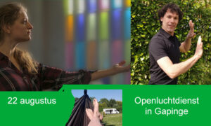 Openluchtdienst op Gapingse camping
